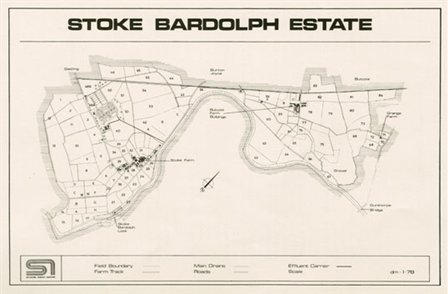 Plan of the Stoke Bardolph estate, 1978 (RWA/Pr/4 p.13)