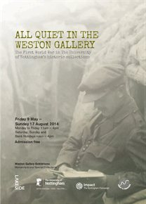 All Quiet in the Weston Gallery exhibition poster