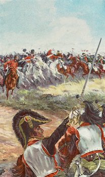 Detail from 'The Battle of Waterloo' by H. Chartier, poster image for Charging Against Napoleon exhibition