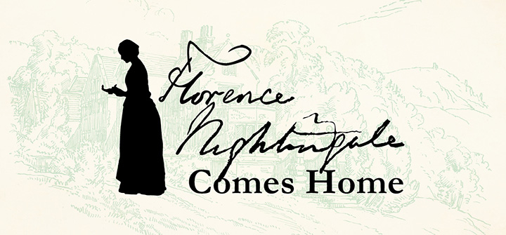 Graphic displaying the exhibition title Florence Nightingale Comes Home
