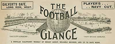 Cutting from The Football Glance dated 1903