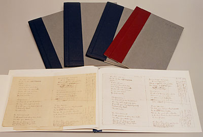 Volumes containing conserved items from the Lawrence collections