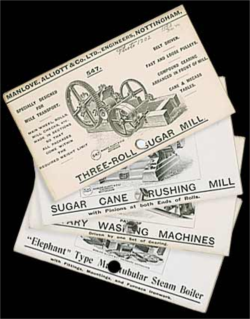 Advertising cards from Manlove Alliott and Co. Ltd, Engineers