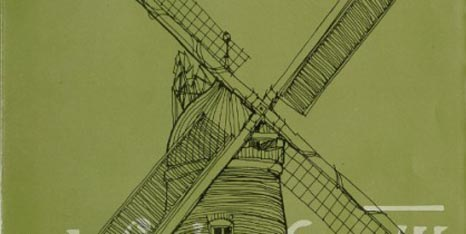 Crop of the George Green exhibition poster showing Green's Windmill Nottingham
