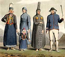 Detail of plate from 'Travels in the Island of Iceland' showing costumes