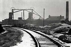Photograph of Brinsley Colliery, a scene typical of Lawrence's early experiences and portrayed in his Nottinghamshire stories