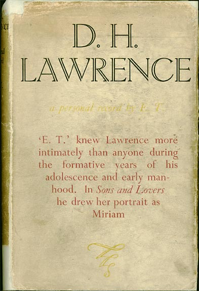 Dust cover of 'D H Lawrence: A Personal Record by E.T.'