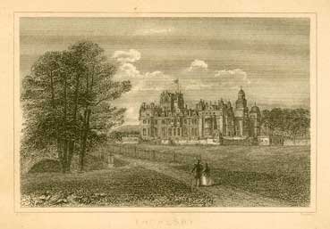 Engraving of the third Thoresby Hall