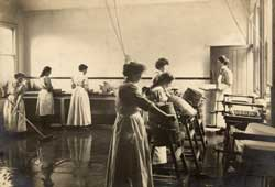 Photograph of the Butter-making Room at the Midland Agricultural and Dairy College, Kingston-on-Soar