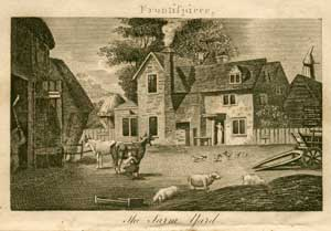 A farmyard, from A visit to a farm-house, by S.W.