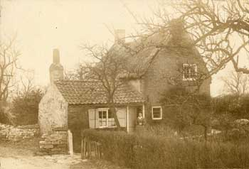 Photograph of Sarah Rose at Up Bar cottage, c.1890-1900