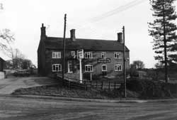 Photograph of the Dovecote Inn, Laxton, 1960s