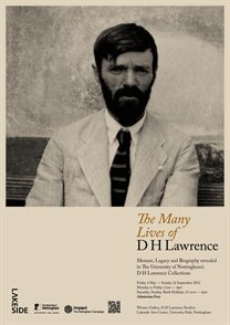 Many Lives of DH Lawrence exhibition poster