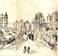 Drawing of the tunnel by T C Hine