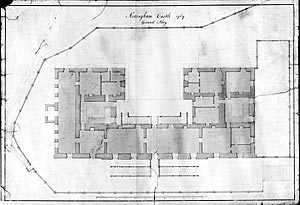Ground story plan of Castle from 1769
