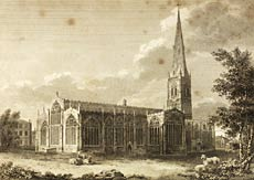 Illustration showing Newark Parish Church