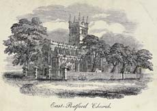 Illustration showing East Retford Parish Church