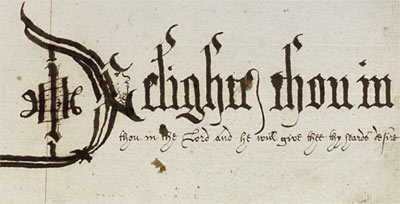 Example of Tibberd's calligraphy
