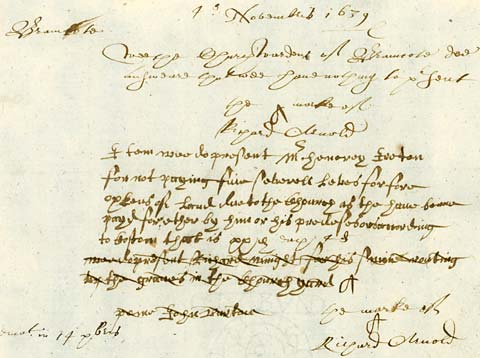 Presentment Bill relating to Henry Ireton from 1639