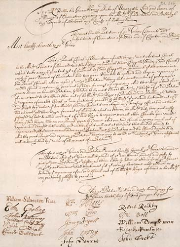 Petition to the 2nd Duke of Newcastle upon Tyne from the late 17th century, petitioning for a donation of wood from the royal estate