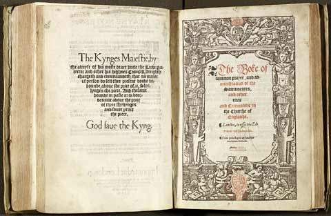 Pages from the Book of Common Prayer from 1552