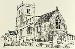 Illustration of Screveton Parish Church, published in 1907