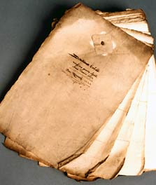 Photograph of a bundle of presentment bills