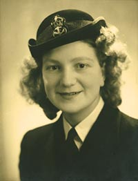 Photographic portrait of Nancy Pulley in WRNS uniform