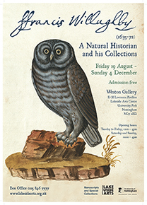 Francis Willughby exhibition poster