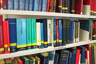Some of the reference books available to visitors