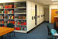 East Midlands Room, showing the stacks holding the East Midlands Collection