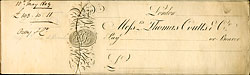 Cheque book, 1809 (Ne A 837)