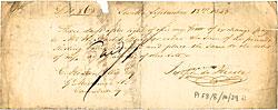 Bill of exchange, 1843 (Pl F8/8/14/29)