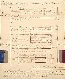 Page from estate account and rental for the manor of Dracklow and Rudheath, Cheshire
