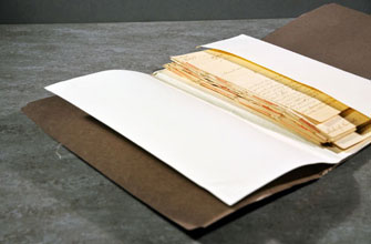 Letters wrapped in acid-free archival packaging