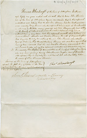 Affidavit and statutory declaration the university of nottingham pl e12619205 affidavit as to the sherwin and longden families of nottingham and bramcote hills nottinghamshire 5 oct 1825 altavistaventures Image collections