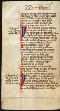 Page laid out as one text block, from 'Speculum Vitae', WLC/LM/9, f. 16v