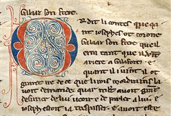 Detail of a lombard initial, from WLC/LM/7, f. 70r