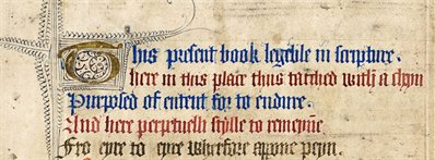 Ownership poem in the Rushall Psalter, Me LM 1, f. 20v