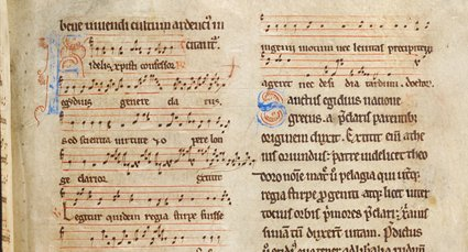 Detail from Latin breviary with musical notation, c.1175-1225 (WLC/LM/1, f.37r)