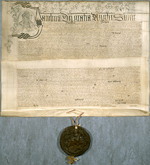 Document with attached seal