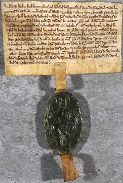 Seal of the Chapter of Repton Priory, 1230 (Po 126)