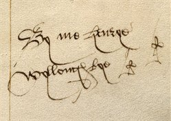 Name of Henry Willoughby in WLC/LM/8, f. 16r