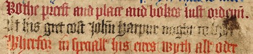 Detail from ownership poem in the Rushall Psalter, Me LM 1, f. 20v
