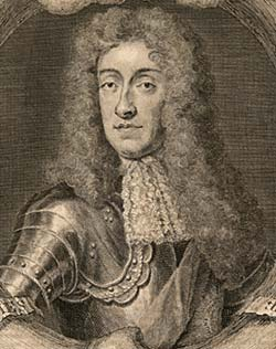 Portrait of King James II, engraved by Geo. Vertue from a portrait by Sir Godfrey Kneller, 1688