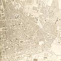 East Midlands Special Collection Not 3.B8.E6: Detail from Plan of the Town of Nottingham and its Environs by Edward W. Salmon, 1862.