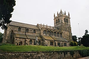 Photograph of Laxton Church, 2008.