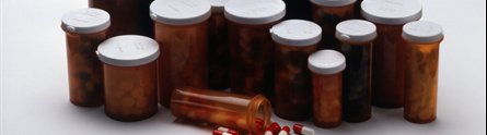 Vials of prescription medications