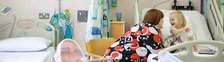 Young patient being treated through the Children's Brain Tumour Research Centre