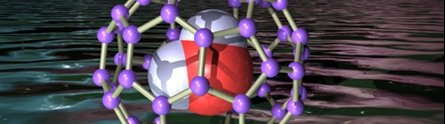 An imprisoned water molecule inside the endofullerene 'cage'